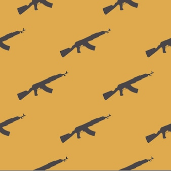 Modèle de modèle de mitrailleuses sur fond blanc. illustration de style créatif et militaire