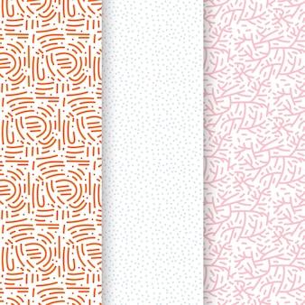 Modèle de modèle sans couture de lignes pastel