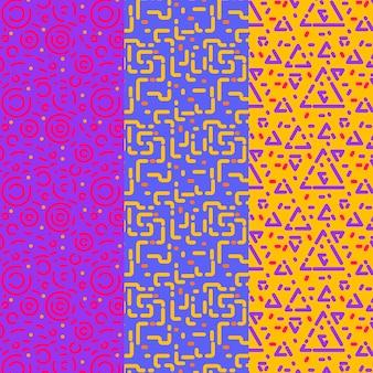 Modèle de modèle sans couture de lignes triangles