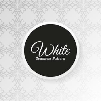 Modèle de modèle sans couture mandala blanc