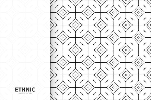 Modèle de modèle sans couture monochrome ethnique ornemental