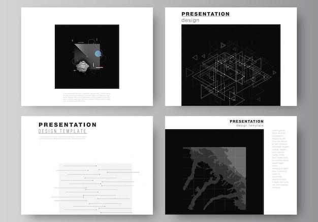 Modèle de modèles d'affaires pour brochure de présentation