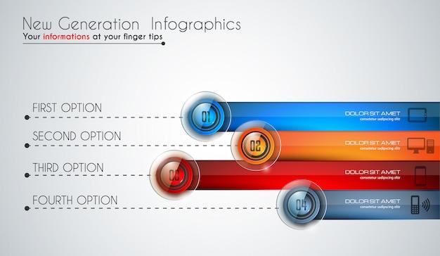 Modèle moderne d'infographie pour classer les données et les informations