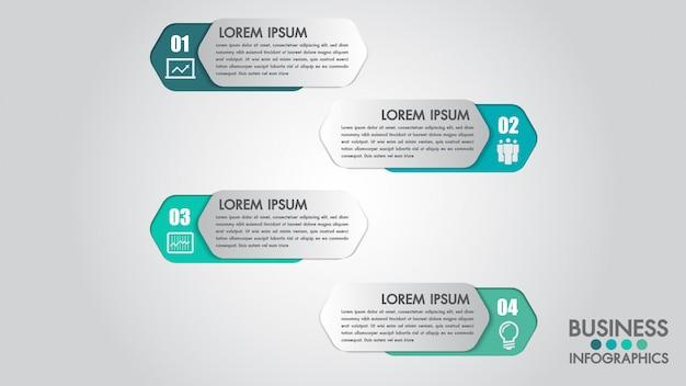 Modèle moderne d'infographie