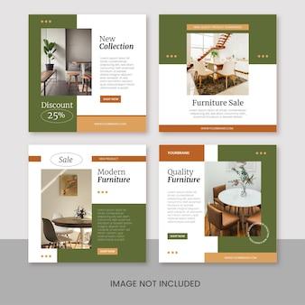 Modèle moderne instagram de flux de promotion d'entreprise de meubles créatifs