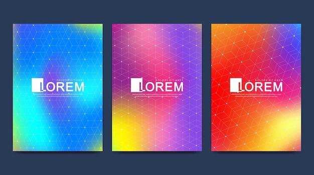 Modèle moderne pour la brochure brochure flyer magazine de couverture de publicité ou rapport annuel