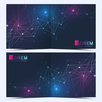 Modèle moderne pour brochure carrée