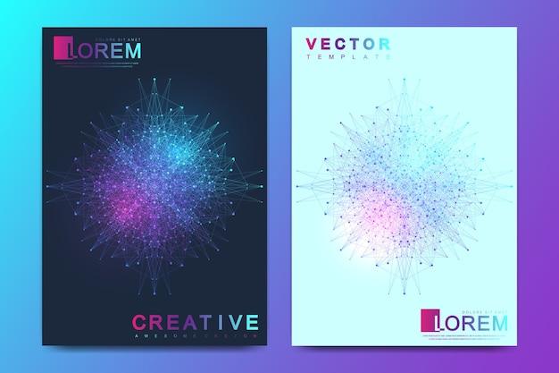 Modèle moderne pour brochure, dépliant, dépliant, couverture, bannière, catalogue, magazine, rapport annuel.