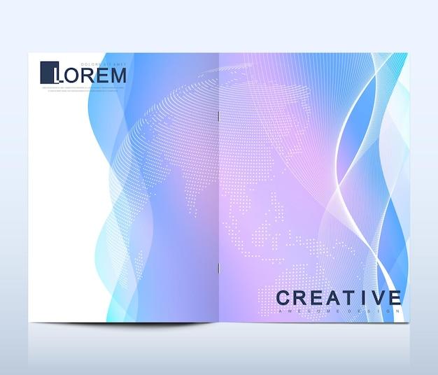 Modèle moderne pour brochure dépliant