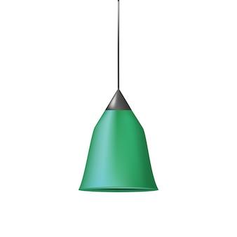 Modèle moderne de vecteur de plâtre lampe lustre