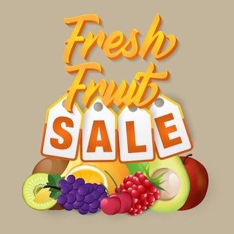 Modèle moderne de vente de fruits
