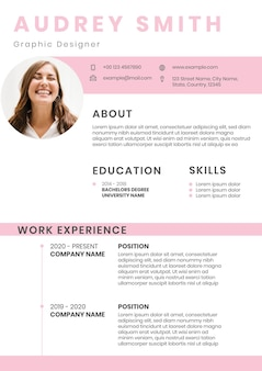 Modèle modifiable de cv créatif pour la recherche d'emploi
