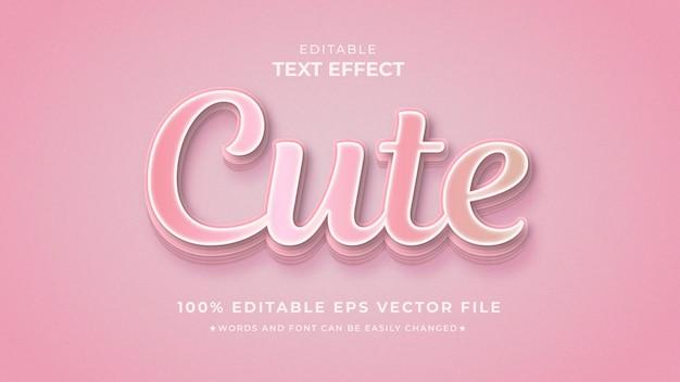 Modèle modifiable d'effet de texte dégradé mignon