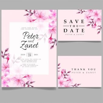 modèle modifiable d'invitation d'événement de mariage à l'aquarelle