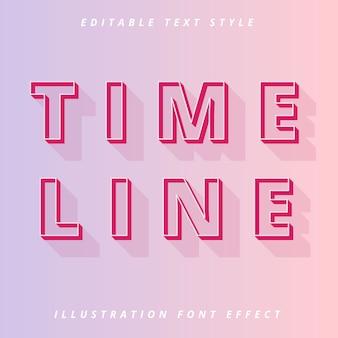Modèle modifiable de style de texte de contour de ligne de temps
