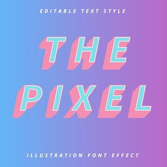 Le modèle modifiable de style de texte pixcel