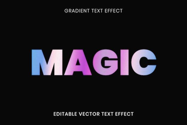 Modèle modifiable de vecteur effet de texte coloré dégradé