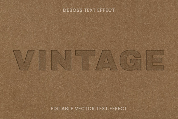 Modèle modifiable de vecteur d'effet de texte en creux