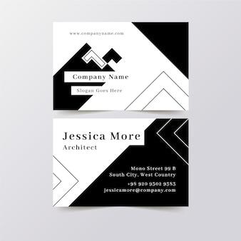Modèle monochrome pour cartes de visite
