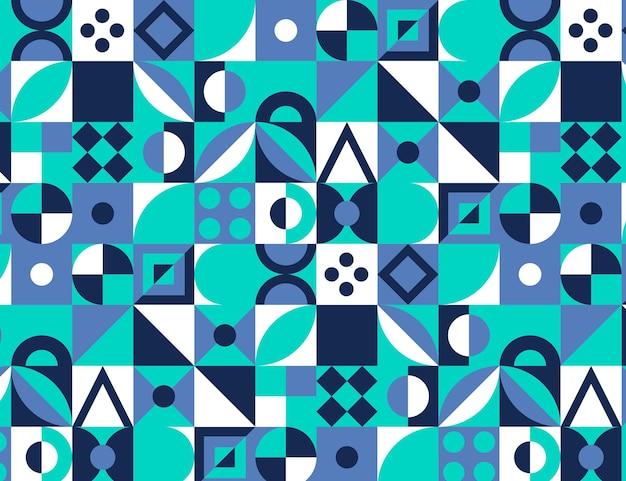 Modèle de mosaïque colorée design plat