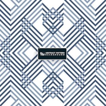 Modèle de motif abstrait bleu géométrique systématique