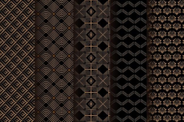 Modèle de motif art déco marron foncé