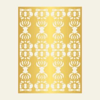 Modèle de motif décoratif découpé sans couture