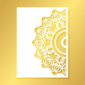 Modèle de motif décoratif mandala coupe sans couture