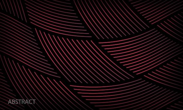 Modèle de motif géométrique abstrait avec fond noir