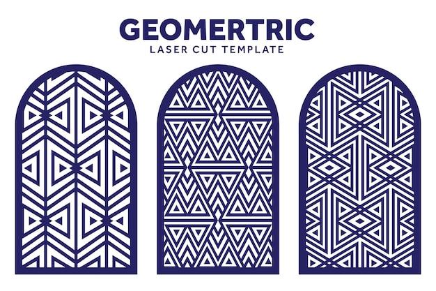 Le Modèle De Motif Géométrique Découpé Au Laser Peut être Utilisé Pour Faire De La Décoration Vecteur Premium