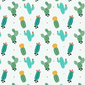 Modèle de motif de mélange de cactus