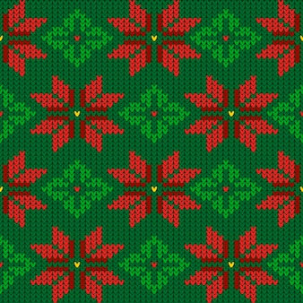 Modèle de motif de noël tricoté