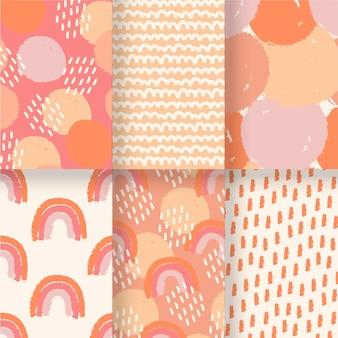 Modèle de motifs dessinés à la main abstraite