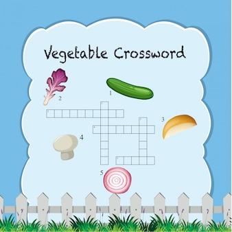 Un modèle de mots croisés végétal