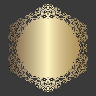 Modèle de napperon orné découpé au laser. décoration vintage ronde.