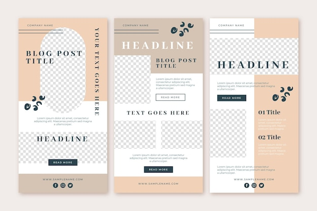 Modèle de newsletter par e-mail blogger
