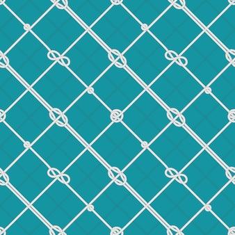 Modèle de noeuds de corde marine. cordes de mer attachées, noeud de corde et sans couture nautique