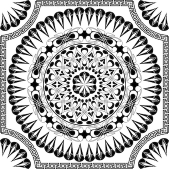 Modèle noir de vecteur de spirales, tourbillons et chaînes