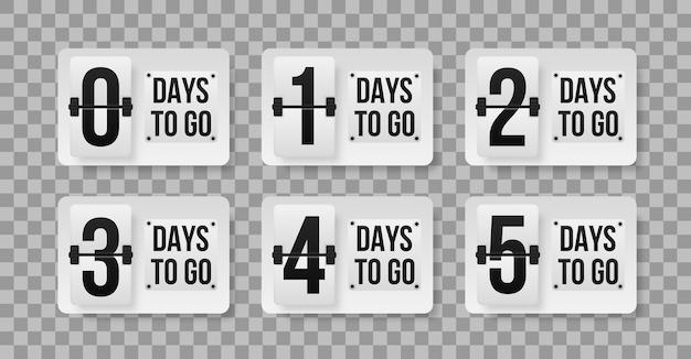 Modèle de nombre de jours restants