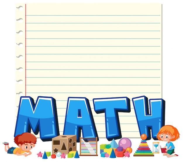 Un modèle de note mathématique