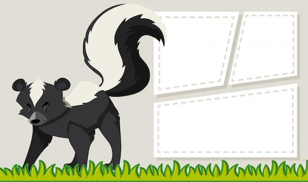 Un modèle de note skunk