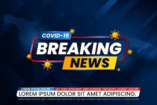 Modèle de nouvelles de dernière minute sur le coronavirus