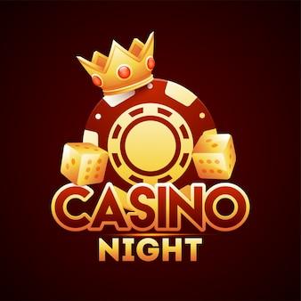 Modèle de nuit de casino.