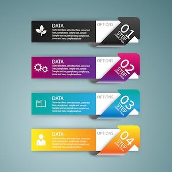 Modèle de numéro de conception infographie. mise en page graphique ou site web. vecteur.