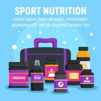 Modèle de nutrition sport femme, style plat