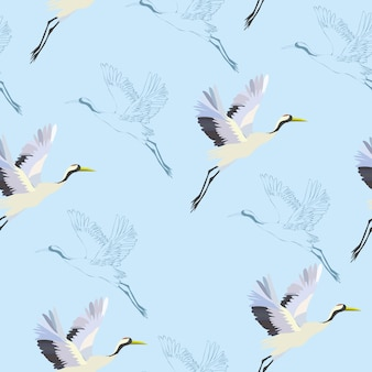 Modèle d'oiseaux de grue