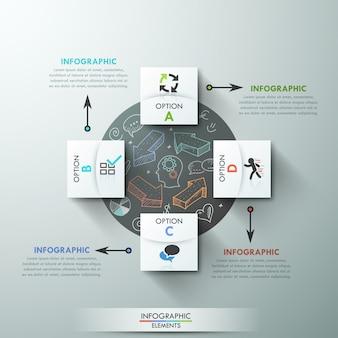 Modèle d'option d'infographie moderne