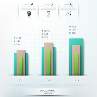 Modèle d'options d'infographie moderne
