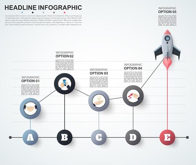 Modèle d'options de numéro d'infographie abstraite.