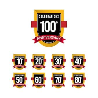 Modèle d'or des célébrations du 100 e anniversaire